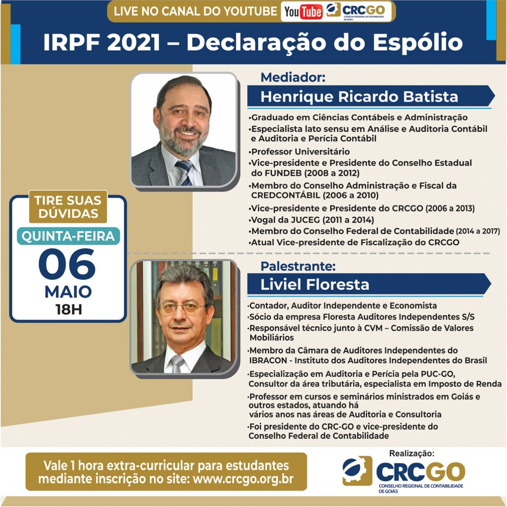 POST LIVE-IRPF 2021-DECLARACAO DO ESPOLIO- CRCGO